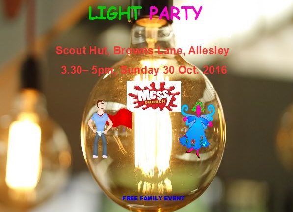 Messy Church's Light Party