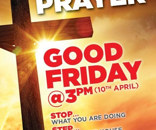 United in Prayer – Good Friday at 3pm
