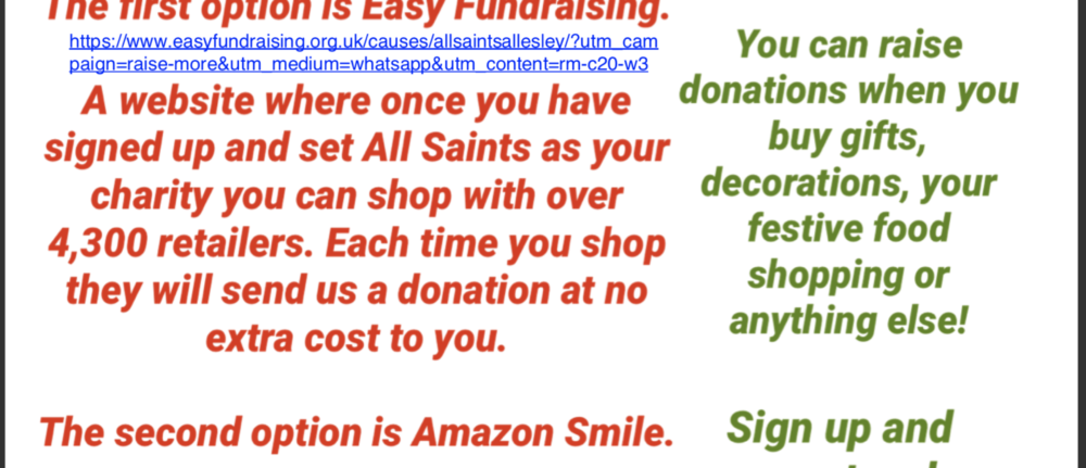 Shop & Support All Saints Church